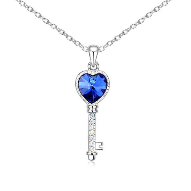 Envious Gems Swarovski Element crystal Sapphire Necklace