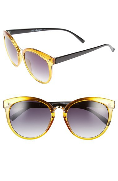 Envious Gems A.J. Morgan Crystal Yellow 'Insistent' Retro Sunglasses