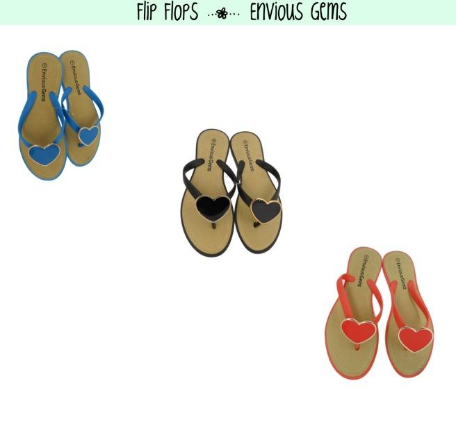Envious Gems Flip Flops Summer 2016