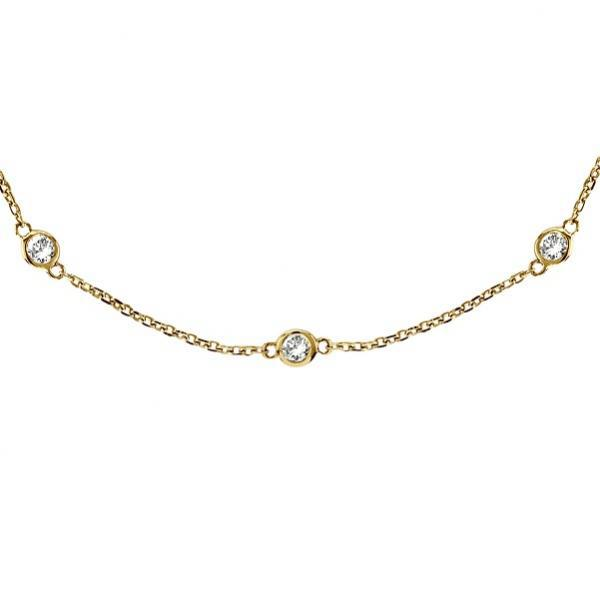 Envious Gems Gold vermeil 16 Diamonds by The Yard Necklace