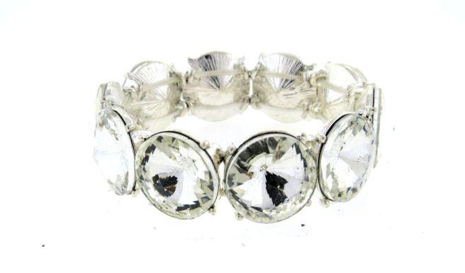 Envious Gems Large Crystal Stone Stretch Bracelet
