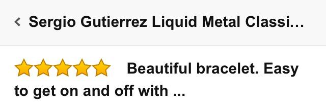 Envious Gems Sergio Gutierrez Liquid Metal Bracelet Review