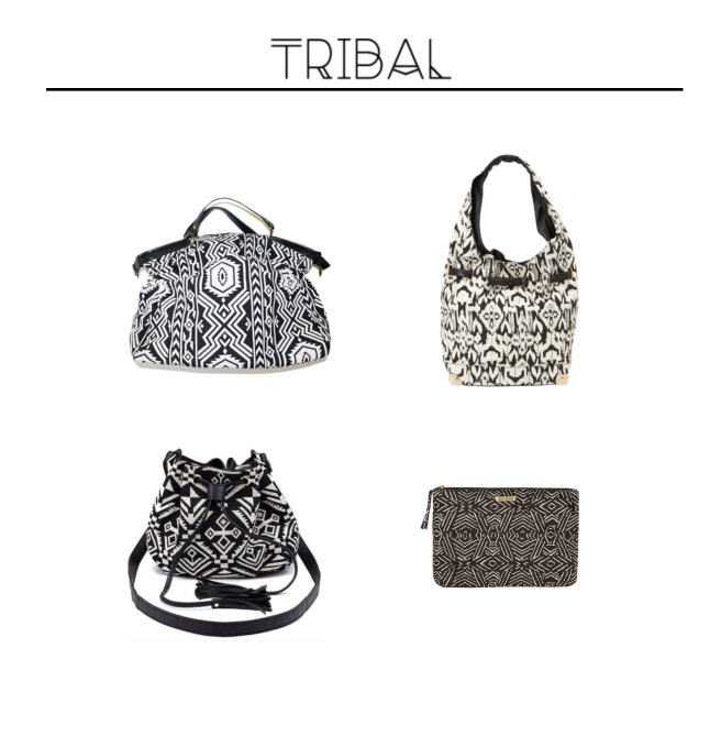 Envious Gems Summer Tribal Black White Bags 2016