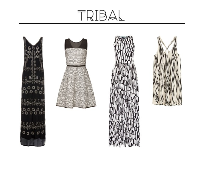 Envious Gems Summer Tribal Black White Dresses 2016