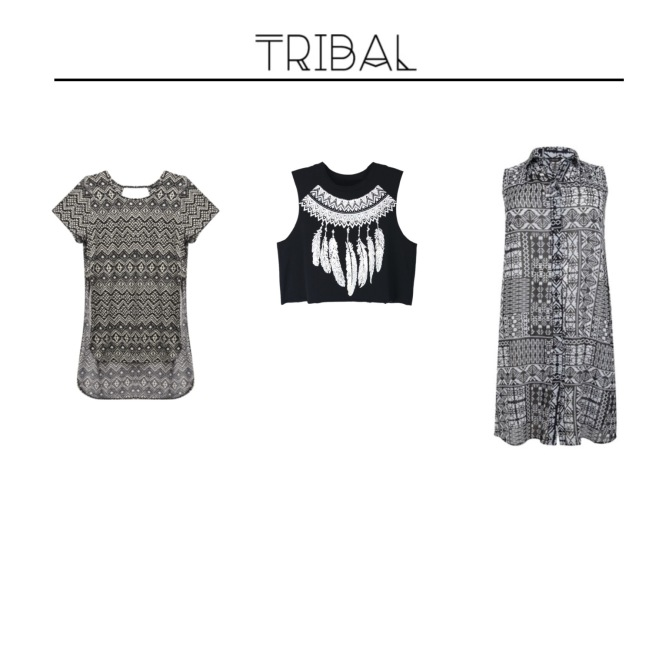 Envious Gems Summer Tribal Black White Tops 2016