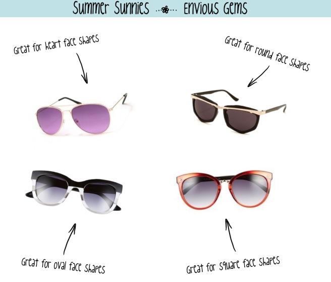 Envious Gems Sunglasses Summer 2016