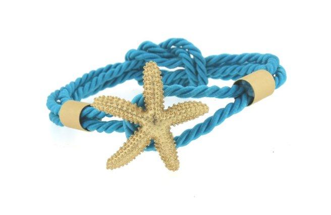 Envious Gems Turquoise Starfish Rope Bracelet