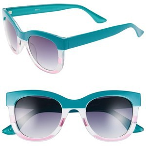 Envious Gems A.J. Morgan Turquoise Pink Marissa Oversized Sunglasses