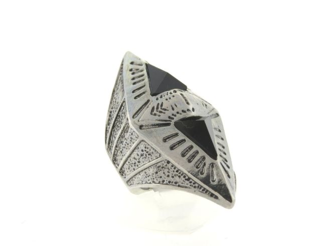 Envious Gems Aztec Crystal SilverTone Knuckle Stretch Ring