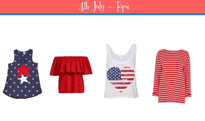 Envious Gems July 4th Independance Day Tops 2016