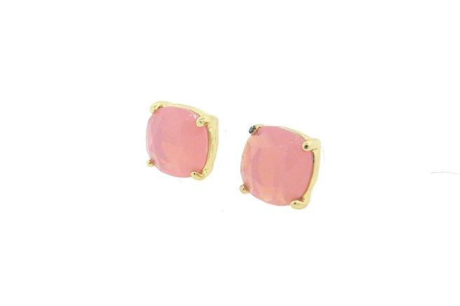 Envious Gems Stunning Pink Quartz 12mm Cushion Cut Stud Earrings