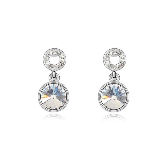 Envious Gems Clear Swarovski Elements Crystal Drop Earrings