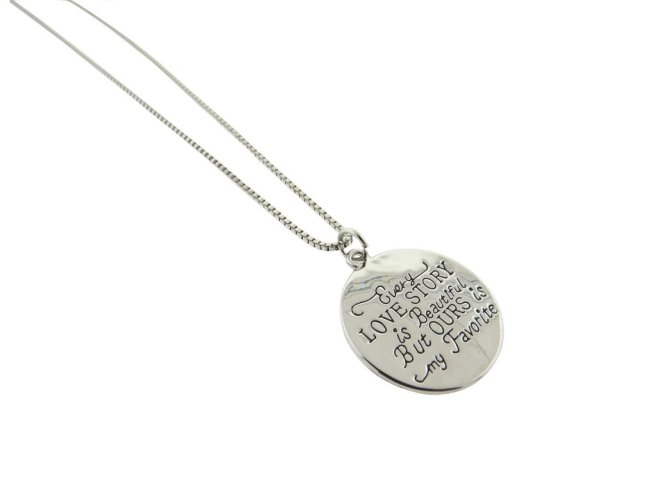 Envious Gems Love Story Silver Plated Pendant Necklace