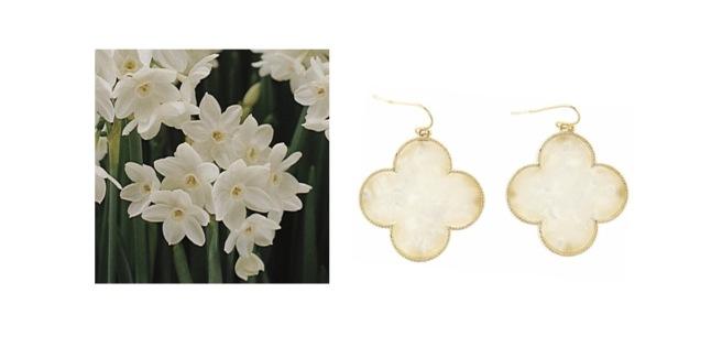 Envious Gems December White Clover Earrings Flower Winter 2016
