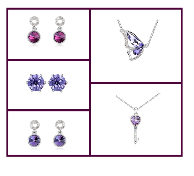 Envious Gems Purple Jeweley Swarovski Element Trend 2016