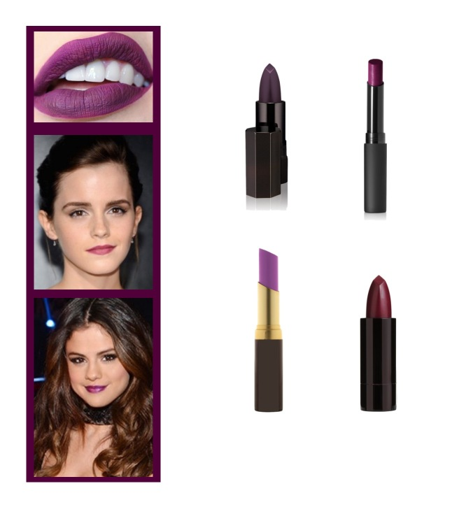 Envious Gems Purple Lipstick Makeup Trend 2016