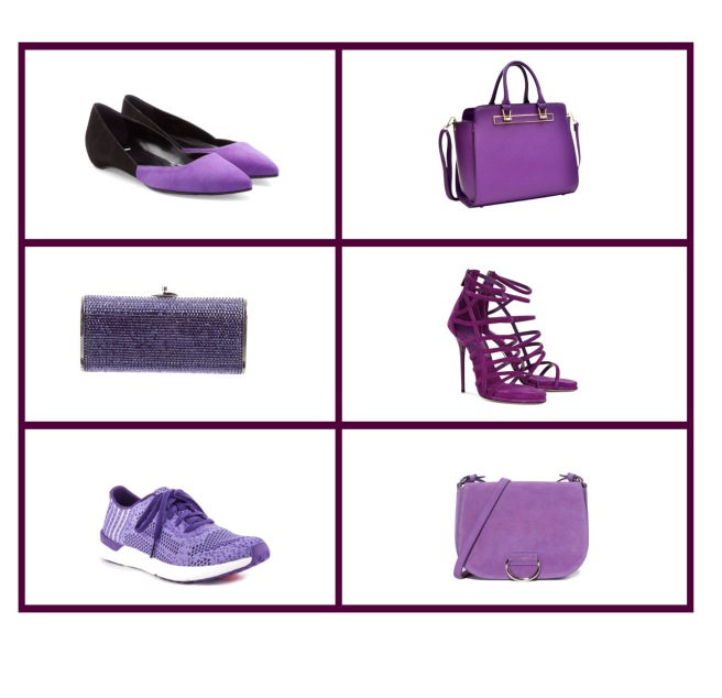 Envious Gems Purple Shoes and Bag Trend 2016