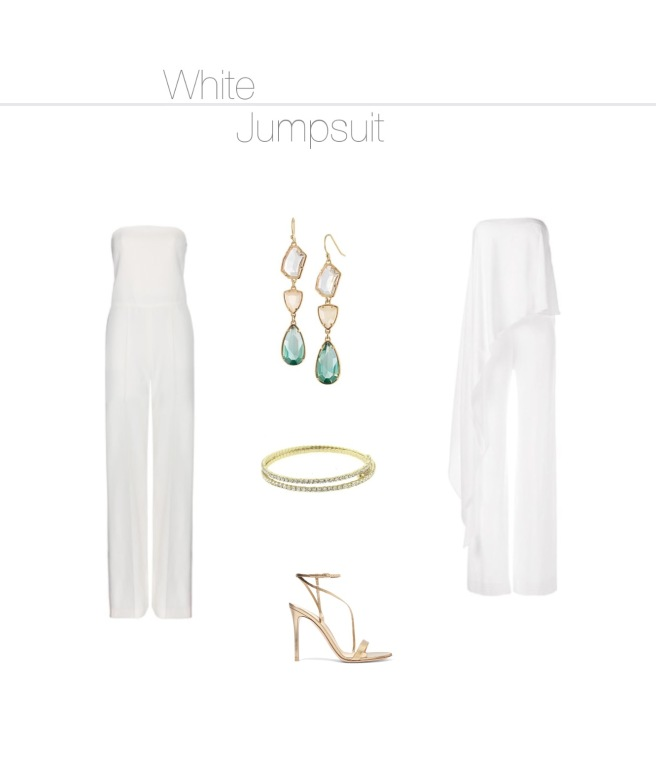 Envious Gems White Jumpsuit Fashion Winter 2016