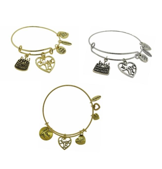 Envious Gems Sweet 16 Charm Bracelet