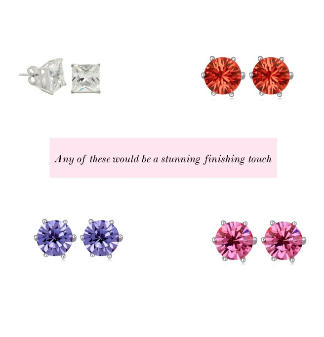 Envious Gems Stud Earrings Valentine's Day 2017