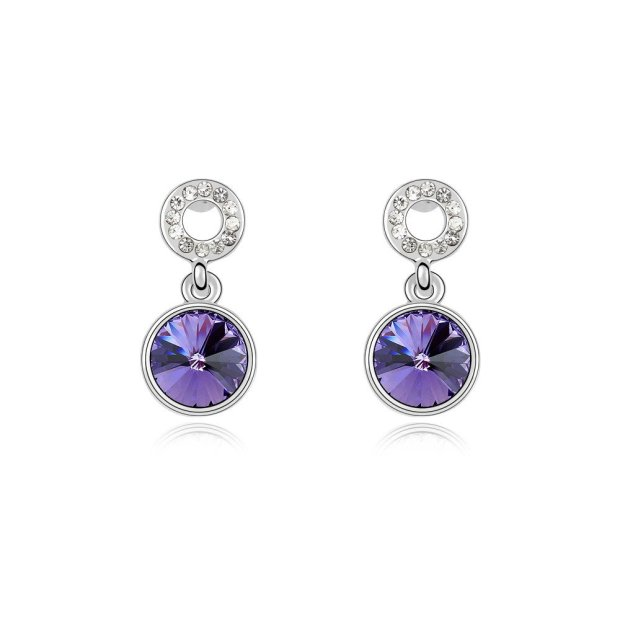 Envious Gems Tanzanite Swarovski Elements Crystal Drop Earrings
